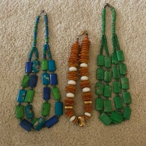 Bundle of 3 chunky statement necklaces